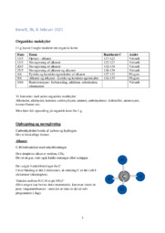 Kemi stx noter | Organiske molekyler | Noter