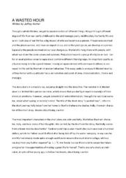 'A wasted hour' | Analytical essay | 12 i karakter