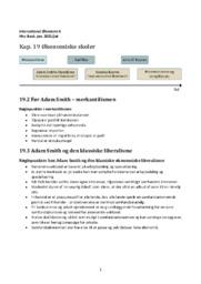 Økonomiske skoler | Noter til kapitel 19 | IØ