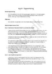 Afsætningsnoter Kapitel 8 – Segmentering | HHX afsætning