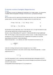 En kemisk reaktions hastighed | 10 i karakter