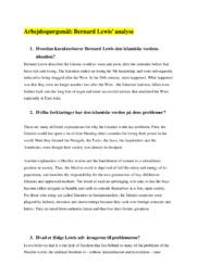 Den islamiske verdens situation   Historie   Noter