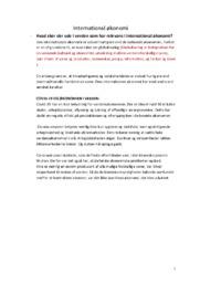 Gode noter til international økonomi | Over 10 sider