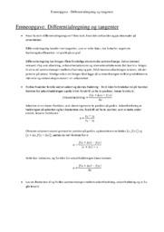Differentialregning og tangenter   12 i karakter