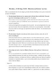 Historien om Kroisos' søn Atys | Oldtidskundskab | Noter