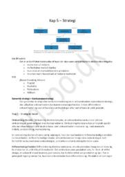 Afsætningsnoter Kapitel 5 – Strategi | HHX afsætning