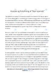 Nye rejsende | Analyse | Tine Høeg | 10 i Karakter