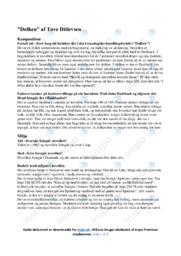 Dolken | Noter Analyse | Tove Ditlevsen