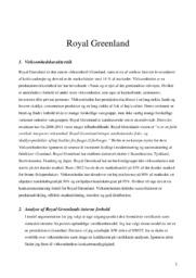 Royal Greenland | Virksomhedskarakteristik | 10 i karakter