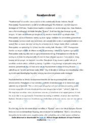 'Naadsensbrød'   Novelleanalyse   10 i karakter