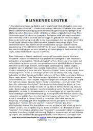 Blinkende lygter | Analyse og fortolkning | 12 i karakter
