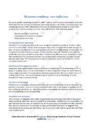 The Evolution of Marketing | Engelsk | Noter