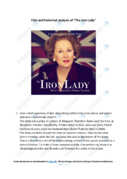 'The Iron Lady' | Analysis | Noter