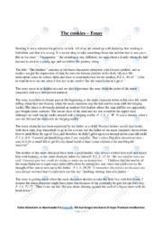 'The cookies' | Essay | 10 i karakter