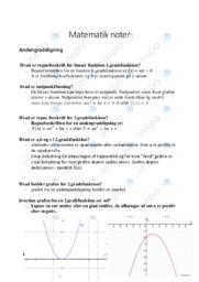 Matematik noter   Over 25 sider