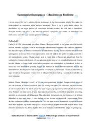 Idealisme og Realisme   Sammenligningsopgave   12 i karakter