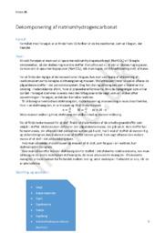 Dekomponering af Natriumhydrogencarbonat | Kemi rapport