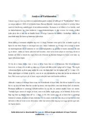 Farklausulen | Analyse | Jonas Hassan Khemiri | 10 i Karakter