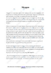 Skyggen | Analyse | H.C Andersen | 10 i Karakter
