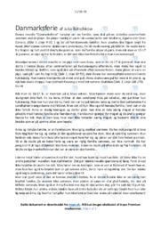 Danmarksferie | Analyse | Julia Butschkow | 10 i Karakter