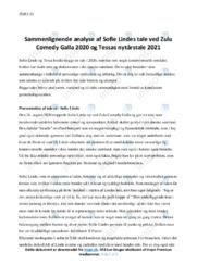 Nytårstale | Sammenlignende Analyse | Tessa | 10 i karakter