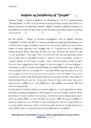 Tyngde | Analyse | Jens Blendstrup | 10 i Karakter