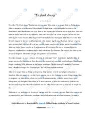 En flink dreng | Analyse | Tove Ditlevsen | 10 i Karakter