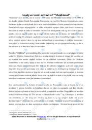 Muldskud | Analyse | Henrik Pontoppidan | 12 i Karakter