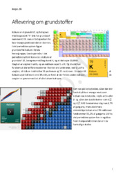Kalium – Alkalimetal   Kemi aflevering om Grundstoffer