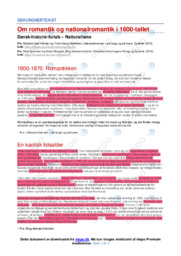 1800-1870 Romantikken   Noter DHO