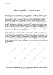 'The Pistol' | Analytical essay | 10 i karakter