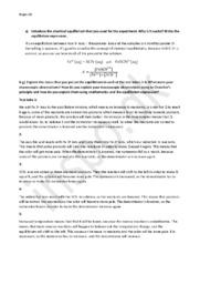Chemical Equilibrium | Kemi Rapport på Engelsk