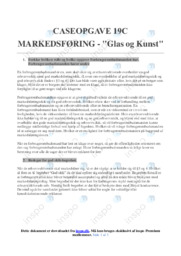 Glas og Kunst | Markedsføring | 10 i karakter