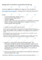 Kondition og konditionstræning | Spørgsmål i idræt