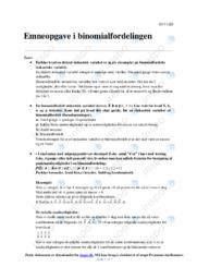 Binomialfordelingen | Emneopgave | 10 i karakter