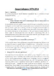 Imperialismen 1870-1914 | Opgave | 10 i karakter