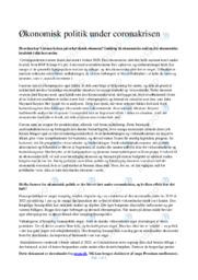 Økonomisk politik under coronakrisen | 12 i karakter