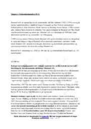 Hummel AS   Virksomhedsanalyse   VØ opgaver