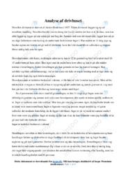 Drivhuset | Analyse | Anders Bodelsen | 10 i Karakter