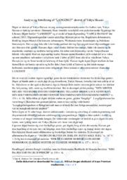 Langdigt | Analyse | Yahya Hassan | 12 i Karakter