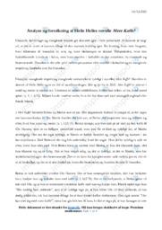 Mere Kaffe | Analyse | Helle Helle | 12 i Karakter