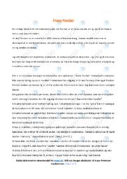 Franz Pander | Analyse | Herman bang | 10 i Karakter