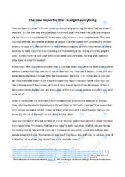 Uber | Argumentative essay | 10 i karakter