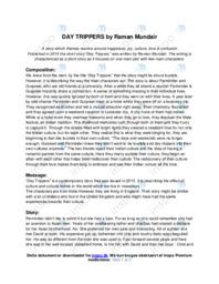 'Day Trippers' | Analytical essay | 10 i karakter