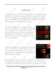 'His face all red' | Analytical essay | 10 i karakter