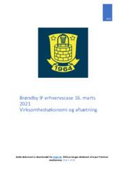 Brøndby IF   Erhvervscase   10 i karakter
