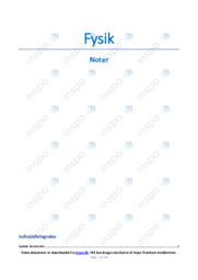 Fysik | Noter | 28 sider