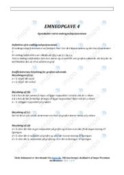 Andengradspolynomium | Emneopgave | 10 i karakter
