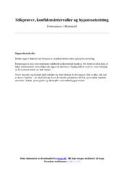 Konfidensintervaller og hypotesetestning | Emneopgave | 10 i karakter