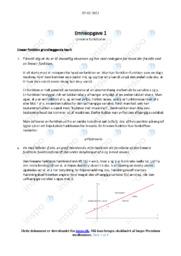 Lineære funktioner | Emneopgave 1 | 12 i karakter
